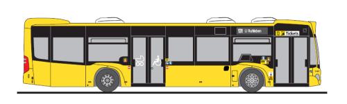 Rietze 69391-2 Mercedes-Benz Citaro C2 BVG Wg. 1187, Linie 131