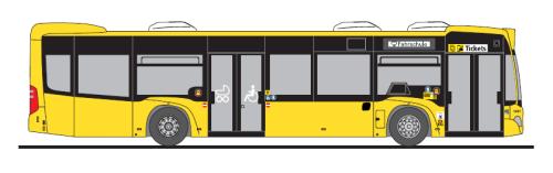 Rietze 69391-3 Mercedes-Benz Citaro C2 BVG Wg. 1051 Fahrschule