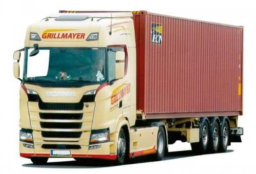 AWM 9297.41 Scania S/Aerop. - 40'HC-Co.SZ Grillmayer Beacon
