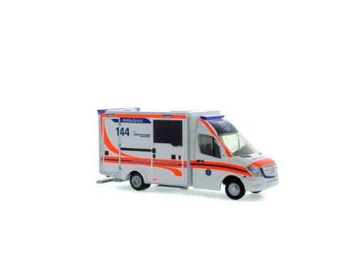 Rietze 76104 Mercedes-Benz WAS Design-RTW Facelift Ambulance Kantonsspital Luzern (CH)