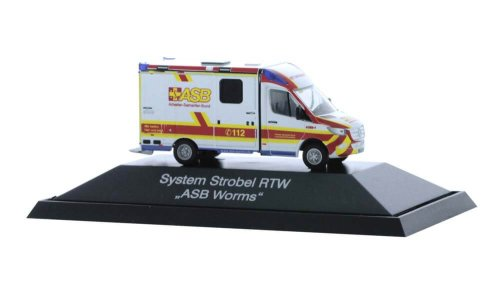 Rietze 76266 Mercedes-Benz Sprinter Strobel RTW ´18 ASB Worms