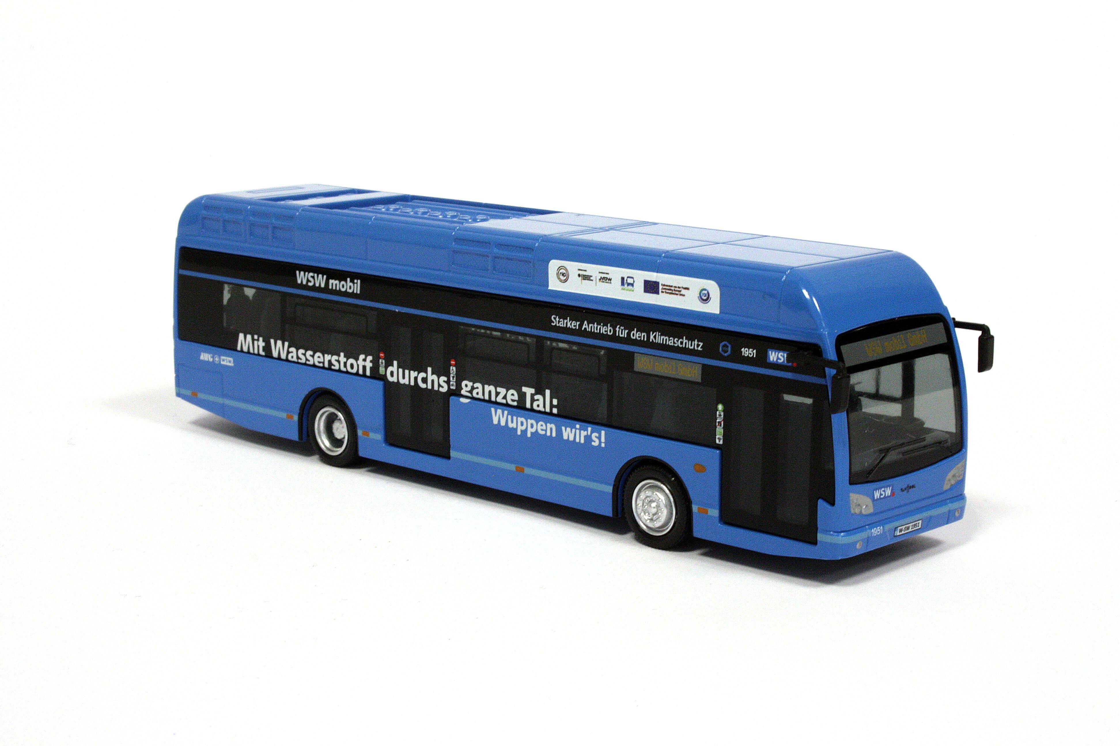 Holland-oto Van Hool A330 Wasserstoffbus WSW Wuppertaler Stadtwerke
