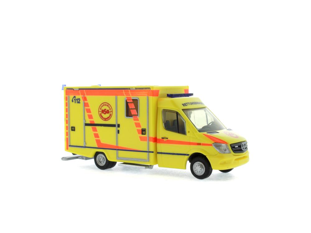 Rietze MB sprinter qué RTW Facelift ProMedica ASG ambulancia Leipzig 61723