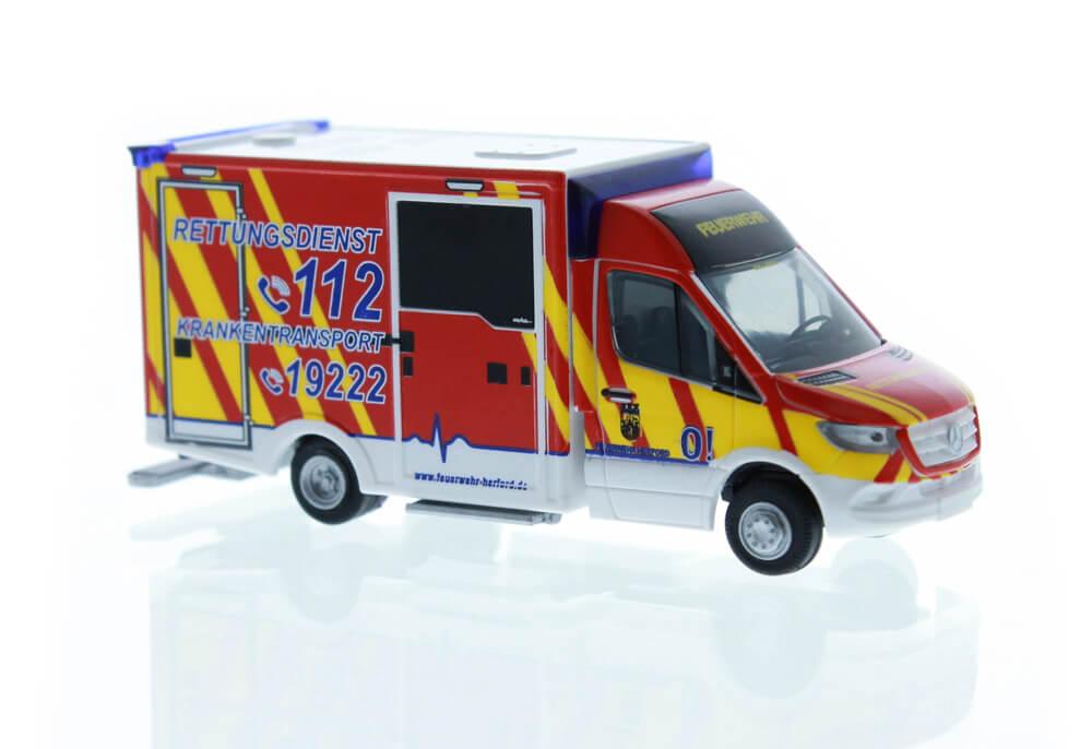 Rietze MB Sprinter WAS Design-RTW DRK Landau 72041